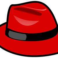 Red Fedora hat vector clipart