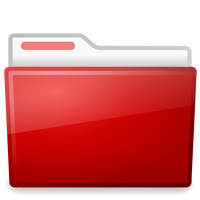Red File Folder vector clipart