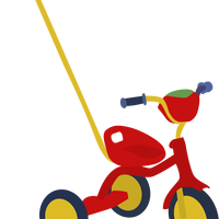 Red Tricycle Vector Clipart
