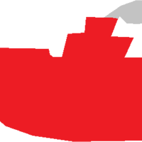 Red Tugboat Vector Clipart