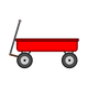 Red Wagon Vector Clipart
