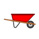 Red WheelBarrow Vector Clipart