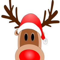 Reindeer with Red Nose vector clipart