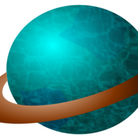 Ringed Planet Vector Clipart