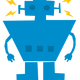 Robot Recharged Vector Clipart