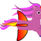Rocket Unicorn Vector Clipart