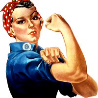 Rosie the Riveter vector clipart