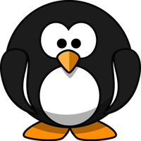 Round Penguin Vector Art