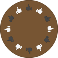 Round Table Vote Vector Graphic