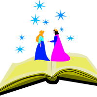Royal storybook couple in fantasyland vector clipart