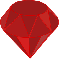 Ruby Gemstone Vector Clipart