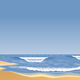 Sandy Beach with waves vector clipart
