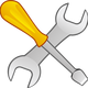 Screwdriver and Wrench Vector Clipart