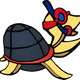 Scuba Turtle Vector Clipart
