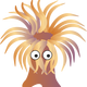 Sea anemone Vector Clipart