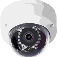 Security Camera pointing at you vector clipart