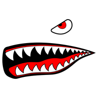 Shark Eye and teeth vector clipart
