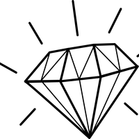 Shiny Diamond Vector Art