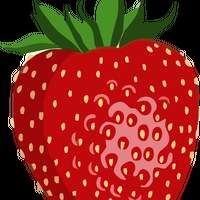 Shiny Strawberry Vector Graphic