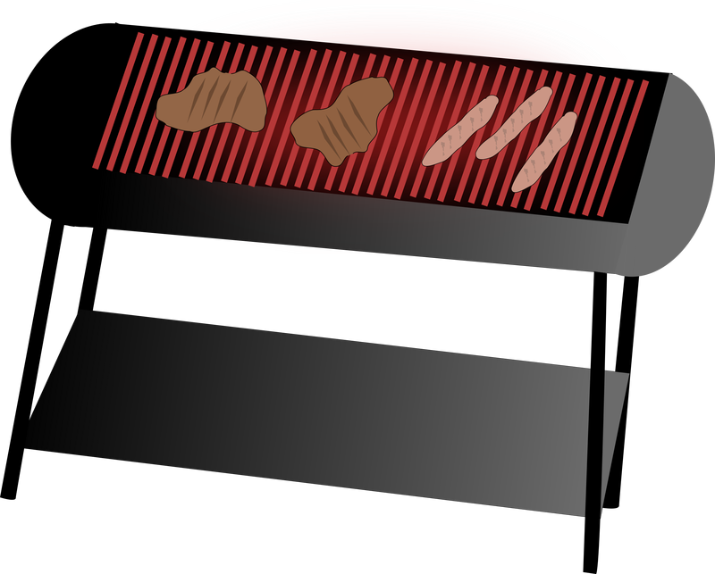 Simple BBQ Grill Vector Clipart image - Free stock photo ...