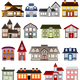 Simple Houses Vector Clipart