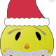 Smiley Santa Vector Clipart