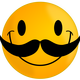 Smiley with Mustache Vector Clipart