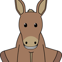 Smiling Donkey Vector Clipart