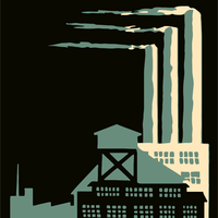 Smokestacks from factories vector clipart