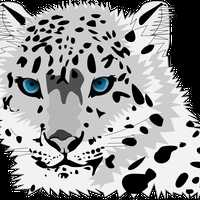 Snow Leopard Vector Graphic