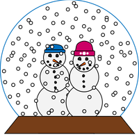 Snowglobe Vector Art