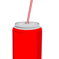 Soda with Central Straw vector file