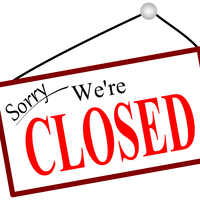 Sorry We're closed sign vector clipart