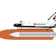 Space shuttle Vector Graphic