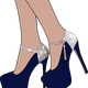 Sparkly High Heel Shoes vector clipart
