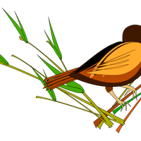 Sparrow sitting on Branch Vector Clipart