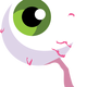 Spooky Eyeball vector Clipart