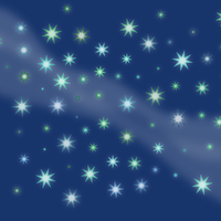 Stars with Milky Way Vector Art