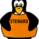 Steward Penguin Vector Clipart