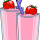 Strawberry Smoothie Vector Clipart