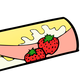 Strawberry Snacks Vector Clipart