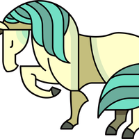 Stylized Cartoon Horse vector clipart