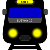 Subway train line 1 vector clipart