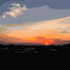 Sunset art vector graphic
