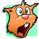 Surprised Chipmunk Face Vector Art