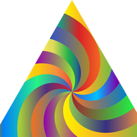 Swirling Prismatic Triangle vector clipart