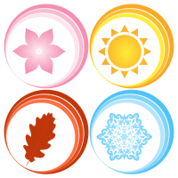 Symbols for Four Seasons Vector Clipart