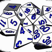 Tabletop RPG Dice set Vector Clipart