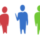Three Different colored humans vector clipart