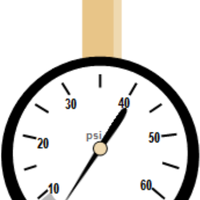 Tire Pressure Gauge Vector Clipart